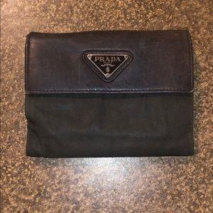 Prada Black Snap Closure BiFold Wallet - Authentic